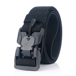 RECON 125cm  Punch Free Magnetic cobra buckle BDU belt new, Tactical Belt Quick Release Nylon  - Black