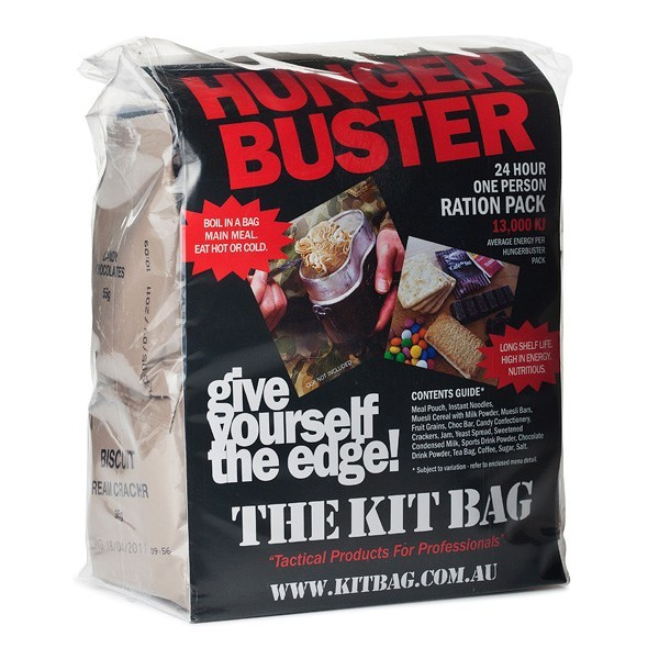 portion pack Hunger Buster 24hr 1 Man Army Food Ration Packs 13000Kj,army rations,army ration