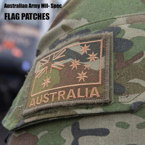 AUSTRALIAN ARMY FLAG PATCHES AUSTRALIAN ARMY 'AUSTRALIA' MIL SPEC SHOULDER FLASHES