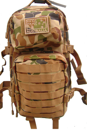 MOLLE Cadet/Day Assault Pack 28 ltrs Auscam, MOLLE Cadet/Day Assault Pack 28 ltrs Auscam