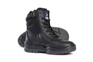 "Mongrel Tactical 8"" Black  Boots non safety"