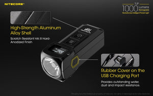 Nitecore TUP 1000 lumens intelligent USB rechargeable keychain torch