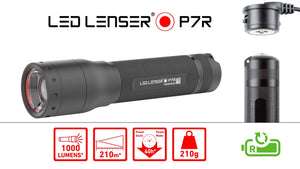 LED Lenser - P7R - Rechargeable Torch - 1000 Lumens - Black