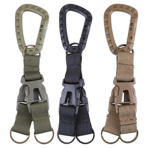 Carabiner Tactical Backpack Belt Buckle Webbing Hook Buckle Hanging System Molle