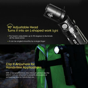 NITECORE MT21C 1000 lm Multifunctional 90 Degree Adjustable Flashlight, Black