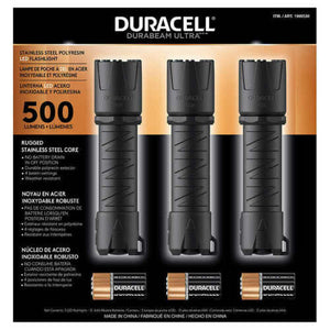 DURACELL LED Flashlight 500 Lumen 3-Pack