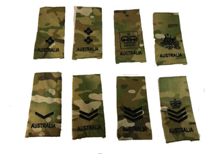Australian Army Rank Slides Multi cam