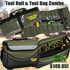 Rugged Tool Bag & Tool Roll Combo