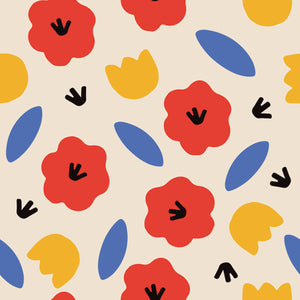 Color Flowers Print