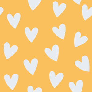 Yellow Hearts Print