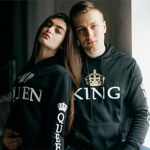 Black - King & Queen Hoodies