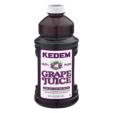 Kedem Grape Juice 64oz Plastic Bottles - 8 Per Case