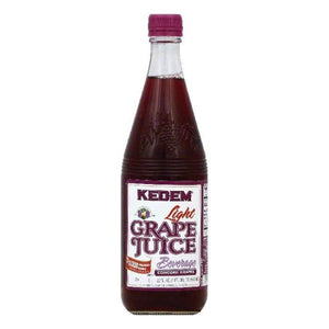 Kedem LITE Grape Juice 22oz Glass Bottles - 12 Per Case