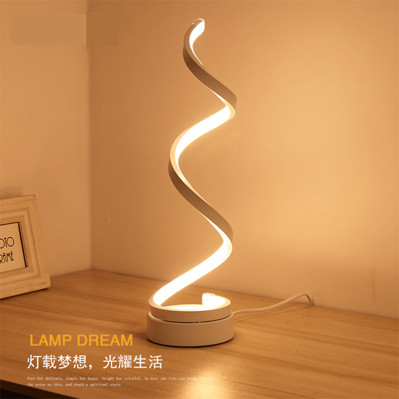 Creative Design Spiral Modern Table Light Acrylic Table Lamps For