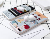 Squishy Sleeping Cat & Paw Rabbit Silicone Case For iPhone 5 5S 6 6S Plus & iPhone X 8 7 Plus