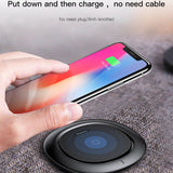 Baseus QI Wireless Charging Charger For iPhone X 8 Samsung Note 8 S8 S7 S6 Edge Mobile Phone Desktop Charger Wireless Charger