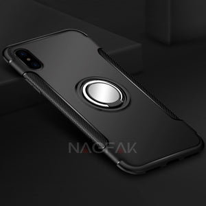 iphone X Metal Ring Holder Cases