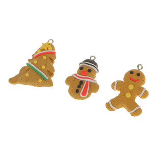 6pcs Christmas Tree Gingerbread Snowflake Deer Baubles Hanging Decoration