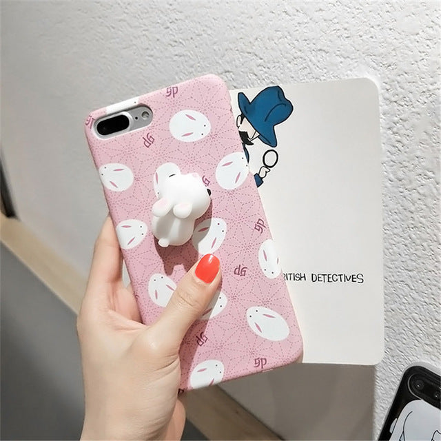 69a535a1da1b55 ... Squishy Sleeping Cat & Paw Rabbit Silicone Case For iPhone 5 5S 6 6S  Plus ...
