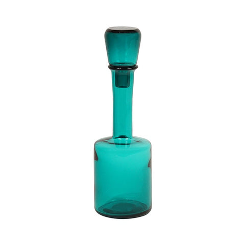 Turquoise Glass Bottle