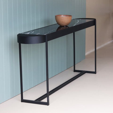 curve console table