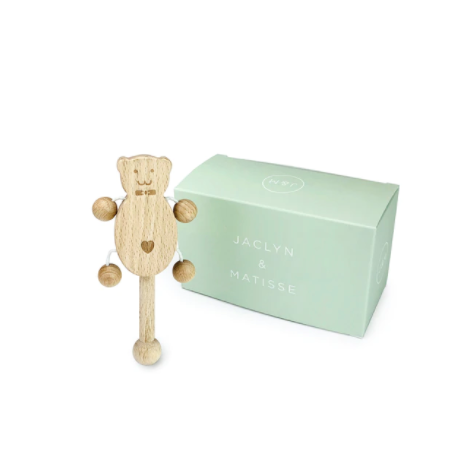 Jaclyn & Matisse Betty the Bear Rattle