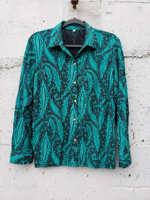 Vintage Paisley 70s Inspired Button Down