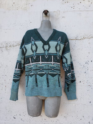 Green Old Man Sweater