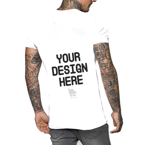 Customized Round Neck T-Shirt - Front & Back