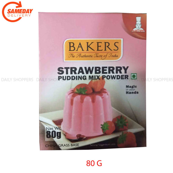 Bakers Strawberry Pudding Mix Powder - 80g