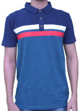 Men's Polo Green Red White Strip T- shirt