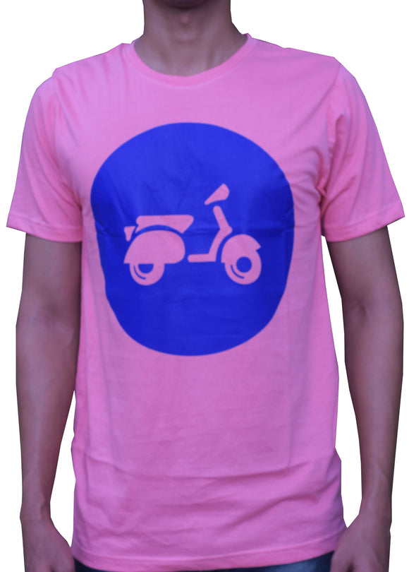 Pink and Blue Vespa Design T-Shirt