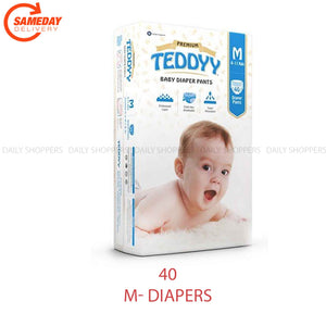 Teddyy Baby Premium Pants Medium Size - 40 Pieces