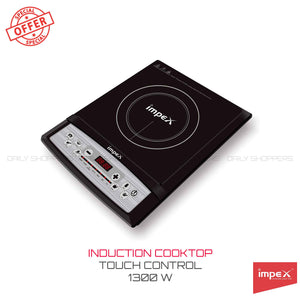 Impex Omega-L4 Light Weight Induction Cooktop Without Pot (1300 Watts,Black)