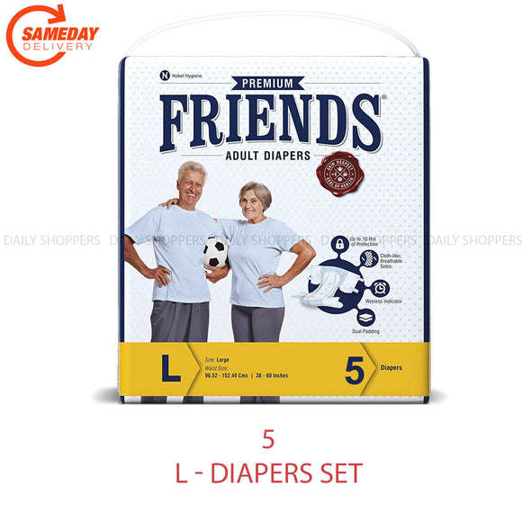 Friends Adult Diapers Premium Large 5 Pcs