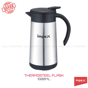 Impex THERMOS-600 Thermosteel Vacuum Flask (600 ml,Silver)