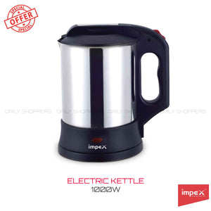 Impex STEAMER-1000C Stainless Steel Electric Kettle (1 Litre,1000 Watts,Silver)