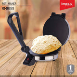Impex ചപ്പാത്തി മേക്കർ RM-900 Watts Stainless Steel Roti and Chapathi Maker (Silver)
