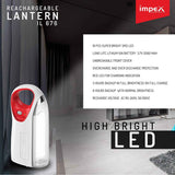 Impex IL-676 Rechargeable LED Lantern (24cm, White)
