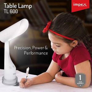 Impex TL-600 Rechargeable LED Table Lamp (White)