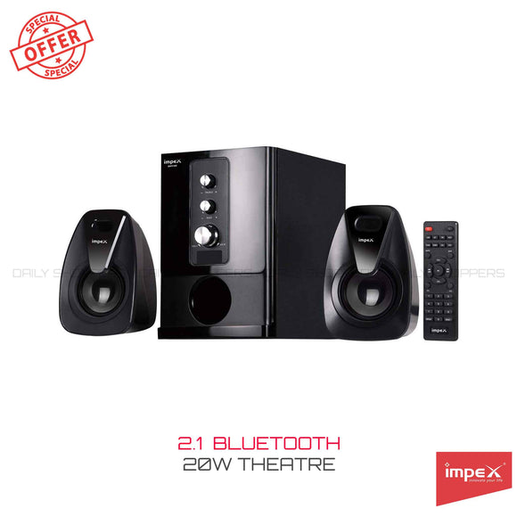 Impex 2.1 Rhyme 20 W Portable Multimedia Speaker System (Black)