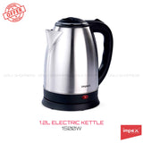 Impex STEAMER-1201 Stainless Steel Electric Kettle (1.2 Litre,1500 Watts,Silver)