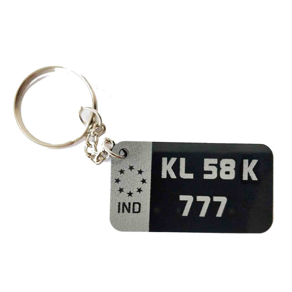Number Plate Keychain
