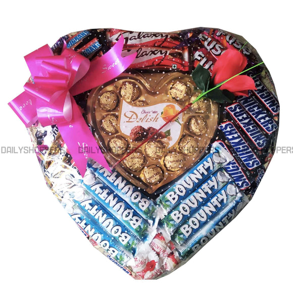 Heart Shape Chocolate Gift Pack 9