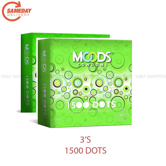 Moods 1500 Dots 3's (Pack of 2) Condoms (2 പാക്കറ്റ്)