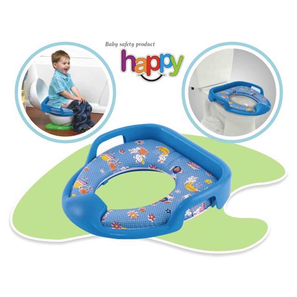 Dash Happy Cushioned Potty Training Toilet Seat (Blue)