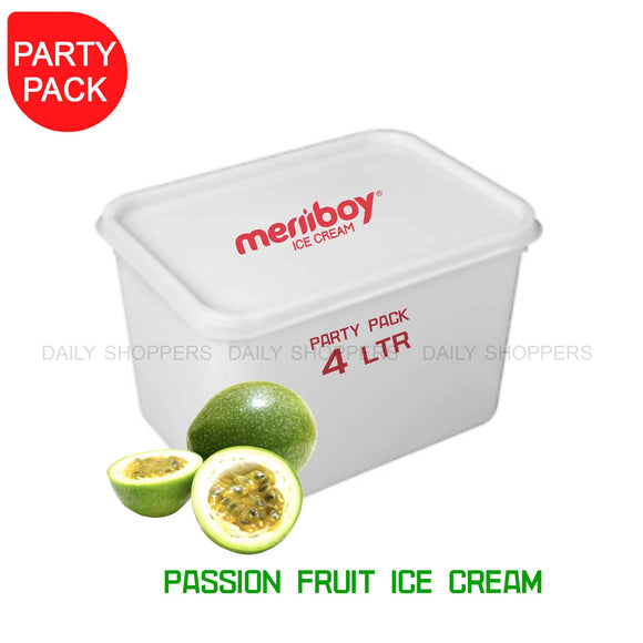 Meriiboy Party Pack Passion Fruit - 4 Ltr