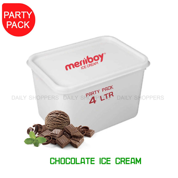 Meriiboy Party Pack Chocolate - 4 Ltr