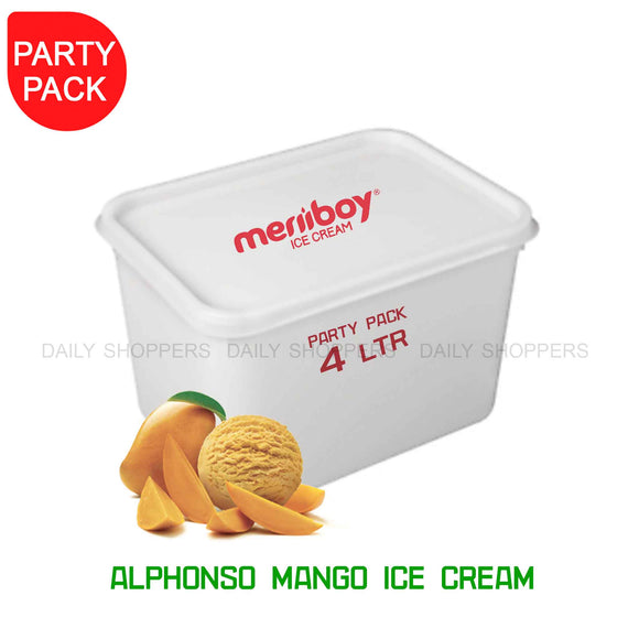 Meriiboy Party Pack Alphonso Mango - 4 Ltr