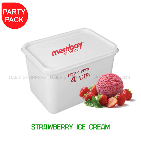 Meriiboy Party Pack Strawberry - 4 Ltr